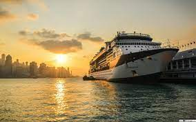 Cruise ship about to sail HD wallpaper ...