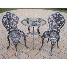 source outdoor furniture napa bar side. outdoor oakland living vineyard cast aluminum glass top patio bistro set 3105a source furniture napa bar side