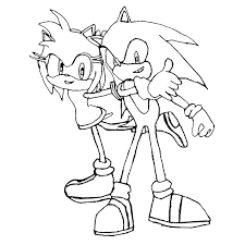 Sonic And Amy Coloring Pages Interesting To Print 1803 Francofestnet
