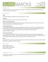 Pretty Sample Photography Resume Photos Entry Level Resume