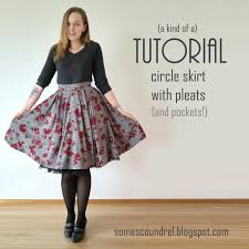 Skirt Patterns With Pockets Delectable Sew Scoundrel A Circle Skirt That's Also Pleated A Kind Of A Tutorial