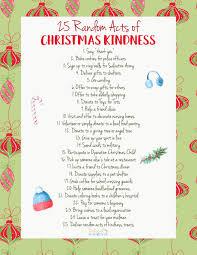 Kindness Christmas Lights 25 Random Acts Of Christmas Kindness Printable Natural