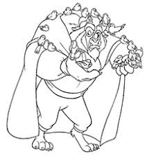 Top 10 Free Printable Beauty And The Beast Coloring Pages Online