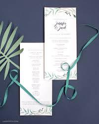 printable program templates download and print your greenery wedding program template