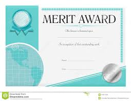 Merit Award Certificate Stock Illustration Illustration Of Best