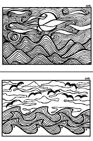 Free Printable Adult Coloring Pages Sunsets N Scenes