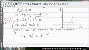 solving quadratic equation with complex roots of x 2 4x 5 0