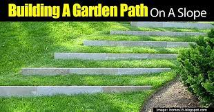 building a garden path on a slope