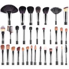 high quality goat hair professional makeup brushes with belt bag full function brush set plete pro