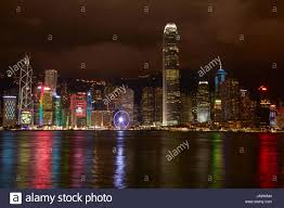 What Time Is The Light Show In Hong Kong Light Show On Skyscrapers And Hong Kong Observation Wheel