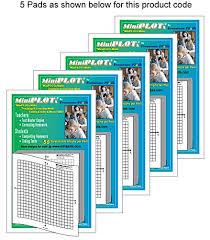 Miniplots Quadra Plot Graph Paper Pads 5 Pads Of 3x3 Inch