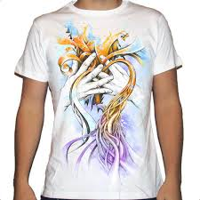 express yourself colorful hands heart by whyball custom t shirt design