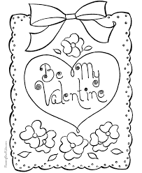 Small Picture Coloring Page Free Printable Valentines Day Coloring Pages