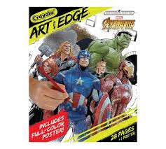Crayola Art With Edge Marvel Avengers Coloring Pages Infinity War