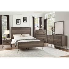 california king bed. Modern Industrial Gray 6 Piece California King Bedroom Set - Urbanite Bed A