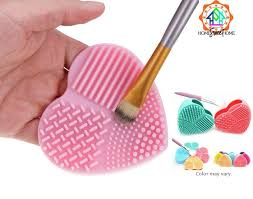 philippines silicone heart shaped makeup brush cleaner wash glove scrubber