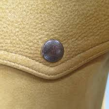 men s rrl by ralph lauren 42 tan sude leather cuved collar er jacket in new condition