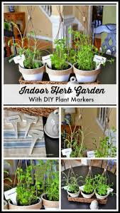 how to make an indoor herb garden. An Indoor Herb Garden Using Inexpensive Clay Pots, Diy Twig Plant Cages And How To Make