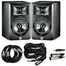 jbl lsr305 pair. jbl lsr 305 studio monitor pair with xlr for mixing boards, trs to jbl lsr305 l