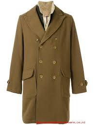 resistant to wear brown east harbour surplus double ted coat with shearling collar mens double ted peacoats amos02