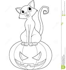 Small Picture Awesome Halloween Black Cat Coloring Page Gallery Coloring Page