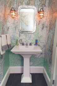 Bathroom Design Bathroom Decor Nautical Chart Wallpaper