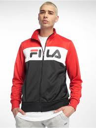 FILA Men Lightweight Jacket Balin Ul <b>Track</b> in red <b>100</b>% <b>polyester</b> ...