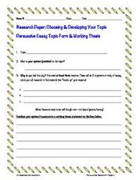 the ojays and thesis statement on pinterest free a persuasive essay research paper topic form for developing a topic and constructing a working thesis statement i use this form  my grade