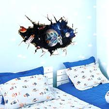 outer space wall decals astronaut in the for kids room ed australia w space wall decal together with decals outer