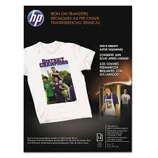 hp iron on transfers 8 1 2 x 11 white 12 pack hewc6049a com