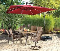 Rectangular Patio Umbrella With Solar Lights