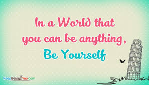 Being Yourself Quotes Mesmerizing Being Yourself Quotes By Unknown