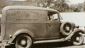 dallas plumbing company. Contemporary Company 1920s Dallas Plumbing Company Van  And