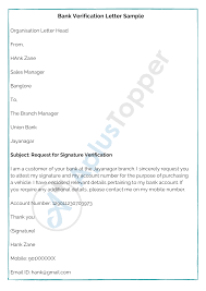 Letter [here briefly focus on sample letter to client for an opening of their bank account at your bank and branch on request from the client for the business account, personal account, company account, shop account, savings account, current account, etc. Bank Verification Letter How To Write Bank Verification Letter Format Samples A Plus Topper