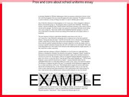 pros and cons about school uniforms essay custom paper writing service pros and cons about school uniforms essay there are many opponents and proponents of an