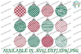 Festive greeting cards, photo cards & more. Pattern Christmas Ornament Svg Dxf Eps Afw Designs