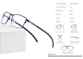 <b>Titanium Alloy</b> Eyeglasses Frame <b>Men</b> Full Square Myopia Optical ...