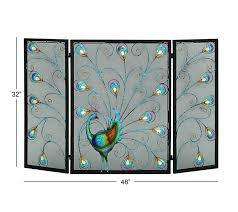 deco 79 metal fireplace screen 48 by 32 inch