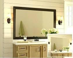 bathroom mirror frame tile. Bathroom Mirror Frame Kit Canada Idea In Home Depot Tile