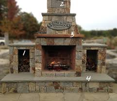 wood burning insert into prefab fireplace stove prefabricated kits design outdoor endearing fireplaces