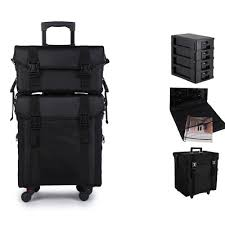 pro beauty nail technician trolley estic case make up bag travel dress box uk
