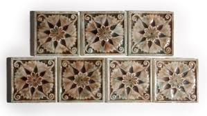 sold seven matching antique fireplace tiles by t tile company 3 x 3