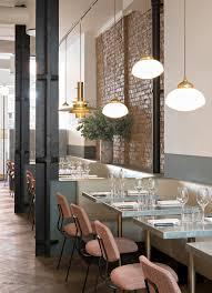 lighting for restaurant. beautiful london restaurant with exposed brickwork and brass pendant lighting frenchie covent garden for