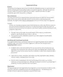 Example Of An Essay Outline Format For Essay Outline Example Of A