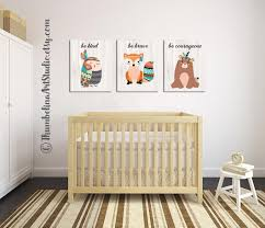 >woodland nursery art be brave nursery art fox bear owl arrows  woodland nursery art be brave nursery art fox bear owl arrows tribal wall art tribal woodland animals forest animals bohemian art by
