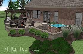 775 sq ft creative brick patio