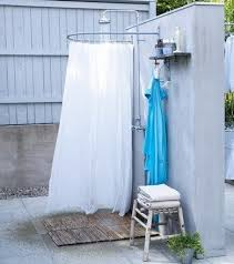 T No Reason Why A Freestanding Patio Wallu2014either Existing Or Newly  Builtu2014canu0027t House An Outdoor Shower If Existing No Need To Conceal Plumbing