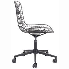 wire office chair black