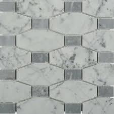 splashback tile diapson white carrera with light bardiglio dot polished marble tile 3 in