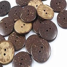 YAKA 100pc New Thick Coconut Shell 2 Holes Button ... - Amazon.com